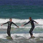 learning to surf in Point Lonsdale